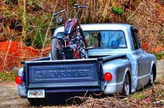 Chevrolet C10 step side pickup trucks custom lowered rat rod patina