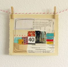 Original Mixed Media Collage  by michele maule