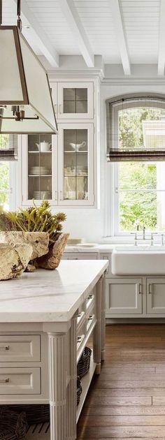 65 Best Modern Farmhouse Kitchen Cabinets Ideas – Best Home Decorating Ideas Farmhouse Kitchen Cabinets, Modern Farmhouse Kitchens, Country Kitchen, Farmhouse Sinks, Farmhouse Style, Country Style, Kitchen Countertops, Kitchen Island, Floors Kitchen