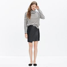 Madewell+-+Leather+Asymmetrical+Mini+Skirt
