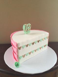 Pink half birthday cake 12 6 months baby half cake PattyCakes