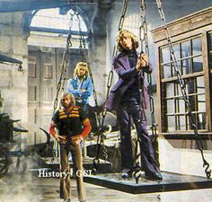 The Bee Gees in the old Dutch town of Hoorn.