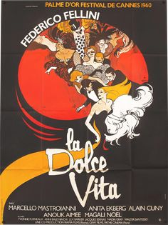 Movie Theater, I Movie, Movies To Watch, Good Movies, Anouk Aimée, Fellini Films, Rome, French Movies, Alternative Movie Posters