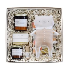 "Shower a new Mom (or yourself) with some love! This Homecoming Gift Box is filled with luxurious products aimed at pampering and helping her focus on some much needed and well-deserved ""me-time"". There's even a little something for the little one! All beautifully packaged in keepsake kraft box."