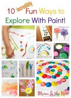 10 Incredibly Fun Ways to Explore With Paint. Sensory exploration for kids of all ages. These awesome craft ideas make great keepsakes too!