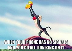 I hate to admit....this has been me....normally at Hoosier Hills Baptist Camp when I am trying to call my husband.  :)