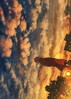 Imagen de anime and sky