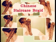 CHINESE KNOT BRAID PONYTAIL BRAID FOR MEDIUM LONG HAIR / COLETAS FACILES - YouTube
