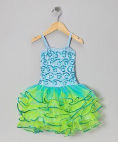 Loving this Light Blue & Mint Bree Dress -  Girls on #zulily! #zulilyfinds...looks like a mermaid sortof