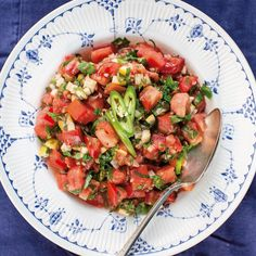 nigellalawson The Palomar Cookbook @thepalomar is up on #CookbookCorner, including this lovely, recipe for tomato salad. Worth investigating .... https://www.nigella.com/cookbook-corner/the-palomar-cookbook Royal Copenhagen plate