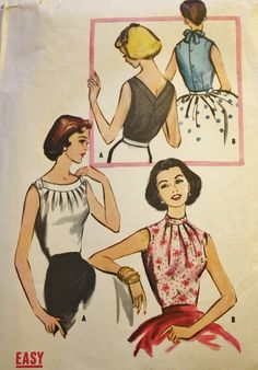 Vintage Sewing Pattern 1950s Misses Fitted by BluetreeSewingStudio, $24.00
