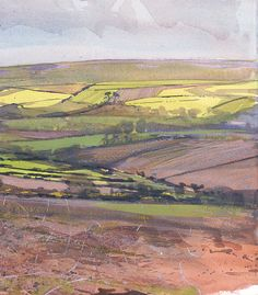 Paul Lewin - Spring Fields, Sancreed I love this artist and own 3 of his works. Abstract Landscape, Landscape Paintings, Acrylic Paintings, Abstract Art, Drawing Artist, Painting & Drawing, Uk Landscapes, West Cornwall, Positive Art