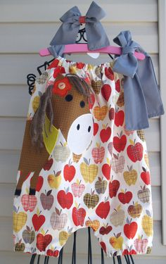 Custom Boutique Fall  Baby Toddler Horse Pony by thequiltedlilies