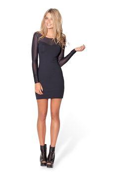 Sheer Top Long Sleeve Matte Dress – Black Milk Clothing Size M Aud 85