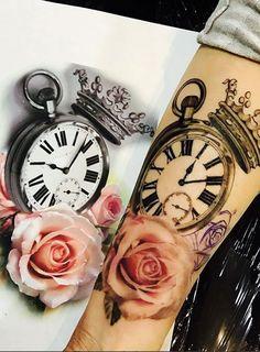 (notitle) - Tattoo - Tattoo Designs for Women Mommy Tattoos, Baby Tattoos, Up Tattoos, Body Art Tattoos, Tatoos, Unique Tattoos, Beautiful Tattoos, Tattoo Avant Bras, Clock Tattoo Design