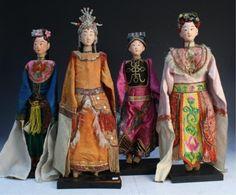 chinese opera | Chinese Opera Puppet Dolls Lot of 4