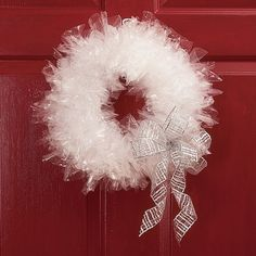 diy ice wreaths | Put your elves to work on a wreath with a magical snow-and-ice look ...