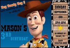2cff6923d30e9 Disney Sheriff Woody Birthday Party Invitation