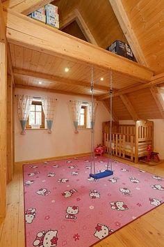 Vestavěné patro v dětském pokoji