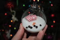 """MOMentarily Distracted: """"Melted"""" Snowman Ornaments"""