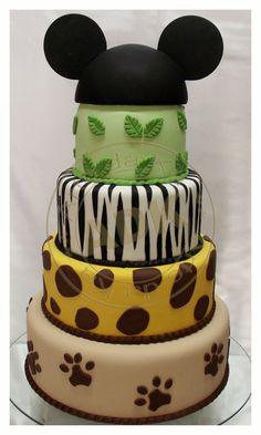 Safari Mickey Cake