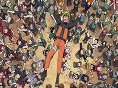Nos braços do povo Naruto recebe o merecido reconhecimento de que tanto merecia e necessitava após salvar a aldeia diplomaticamente com seu jeito ninja de ser