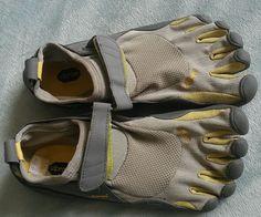 Vibram Fivefingers KSO Womens Barefoot Shoes Grey/Palm/Clay Sz 39 #Vibram #toeshoes