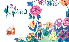 Fairy Tale - Livia Coloji #girl #gnome #flowers #legend #childrensbook #illustration #kidlitart #liviacoloji