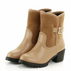 Fashion Sexy Riding Equestrian High Heels Ankle Boots Round Toe Platform Buckle Winter Snow Shoes New Women Boots