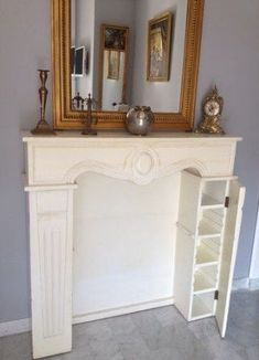 Shabby Chic Decor adjustment to assess now, must view outline number 8698718159 Fake Fireplace Mantles, Build A Fireplace, Bedroom Fireplace, Home Fireplace, Fireplace Remodel, Fireplaces, Interior Design Living Room, Living Room Decor, Cabana