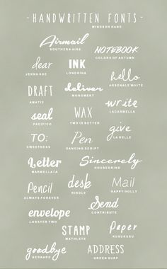 25 Free Handwritten Fonts.. Oh I love these!