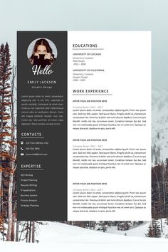 Professional Resume Template | Professional CV Template for MS Word | Modern Resume Design | Resume with Photo | Resume Instant Download Best Cv Template, Modern Resume Template, Creative Resume Templates, Professional Resume Format, Best Resume Format, Resume Cv, Resume Design, Microsoft Word 2007, Cover Letter Template