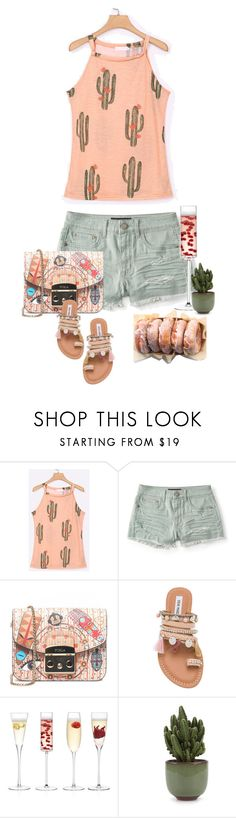 """Tuesday 7/18/17 5:30 pm"" by mimas-style ❤ liked on Polyvore featuring Aéropostale, Furla, Steve Madden and LSA International"