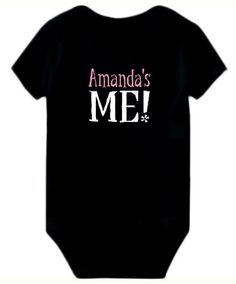 Baby Bodysuit Amanda's Me!