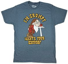 Officially Licensed NEW NWT Disney I/'m Grumpy Deal with It T-Shirt