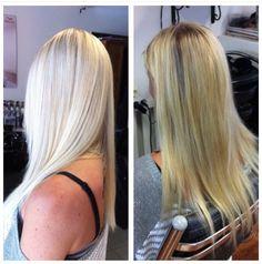 Some highlights on top and balayage in ends makes this brassy blond look more fresh platinblond - muutama vaalea raita päälliosassa ja maalatut balayage raidat latvoissa tuovat  kesäistä platinanvaaleaa raikkautta tähän kellertävään tukkaan #pure #Platin blond hair #blond #summerblond #platinblond  #platinanvaalea #niophlex
