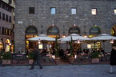 Rivoire, Firenze, Italia. Absolutely one of our favorite restaurants to people watch in Florence.