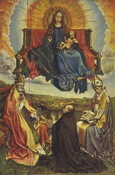 Holy Virgin in Glory, 1430 - Robert Campin