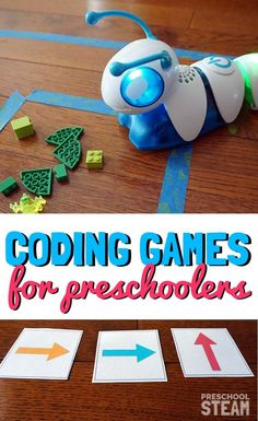 Coding games for preschoolers with hands-on learning. Check out all the 28 Days of STEAM Projects for Kids for fun science, technology, engineering, art, and math activities! Steam Activities, Preschool Activities, Preschool Science, Preschool Classroom, Kindergarten Stem, Science Games, Science Ideas, Science Fair, Math Games