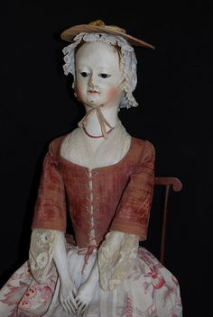 "Very authentic reproduction.  ""Babes from the Woods"" by Kathy Patterson: 24"" Eloise, a hand carved Queen Anne Doll. The details on this doll are fabulous."