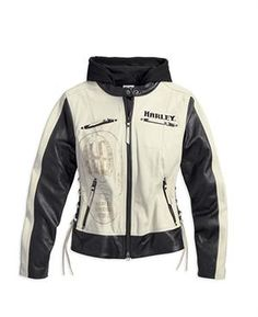 NEW! Harley-Davidson® Women's LIMITED EDITION Adorned 3 In 1 Leather Jacket 97023-15VW