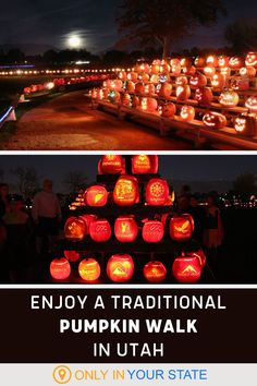 Add the Syracuse Pumpkin Walk in Utah to your Fall Bucket List. Perfect for date night or family friendly fun, this scenic Jack O' Lantern stroll is the perfect event to get you in the Halloween spirit. Halloween Displays, Halloween 2, Spirit Halloween, Travel Ideas, Travel Tips, Centennial Park, Local Parks, Local Attractions, Gypsy Soul