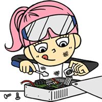 Hacker Girl Facebook Stickers by Birdman Inc. She loves music and technology, and she's sure to outsmart you!