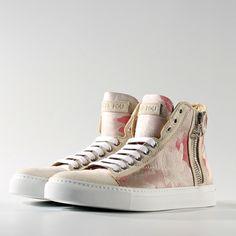 'Amelia' Silk Leather Sneaker by Didi le Fou