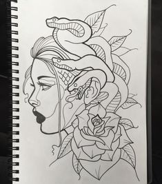 29 ideas for tattoo drawings words Medusa Tattoo Design, Tattoo Design Drawings, Tattoo Sketches, Drawing Sketches, Art Drawings, Tattoo Designs, Medusa Drawing, Medusa Art, Snake Drawing