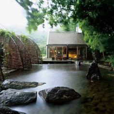 27 idéés pour le bassin de jardin préformé , hors sol + - minimaliste-bassin-de-jardin-pierre