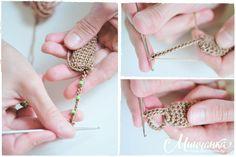 Beaded Necklace - Crochet