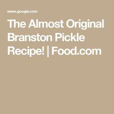 The Almost Original Branston Pickle Recipe! | Food.com