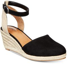 Style&Co. Style & Co Mailena Wedge Espadrille Sandals, Created for Macy's Women's Shoes Cute Sandals, Cute Shoes, Me Too Shoes, Ankle Sneakers, Leather Sneakers, Espadrille Sandals, Espadrilles, Closed Toe Summer Shoes, Closed Toe Wedges