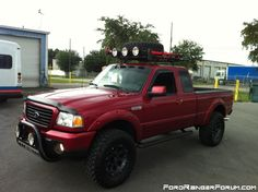 Lifted Ford Ranger, well done! Ford Ranger Wheels, Custom Ford Ranger, Ranger 4x4, Ford Ranger Truck, Lifted Ford Trucks, Chevrolet Trucks, New Trucks, Pickup Trucks, 1957 Chevrolet